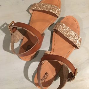 Mossimo glitter sandals